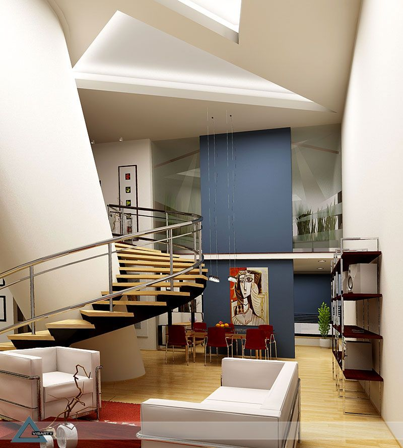 Interior Home Decoration Indoor Stairs Design Pictures: Architecture+Postmodern+Interior+Design