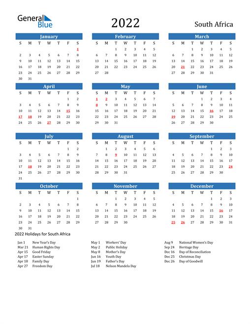 Ou Calendar 2022.Free Printable Calendar In Pdf Word And Excel South Africa Calendar Printables Usa Calendar Excel Calendar