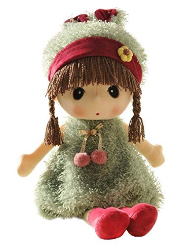 Hwd Kawaii 17 Inch Stuffed Plush Girl Toy Doll Good Dolly Gift For Kids Baby Lover Green Price 20 5 Free Shippin Toys For Girls Baby Dolls Kawaii Plush