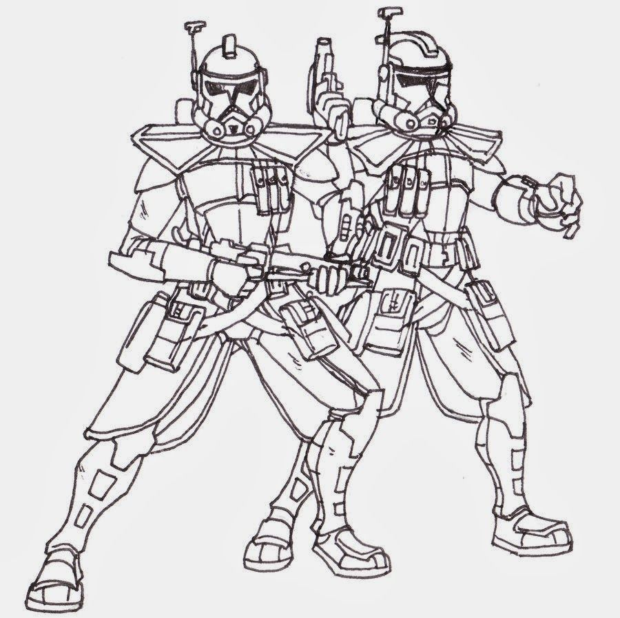 printable coloring pages star wars clone troopers Star