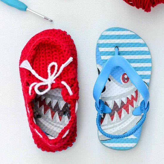 Crochet Boat Shoes Free Pattern Craft Gawker Cheap Flip Flops