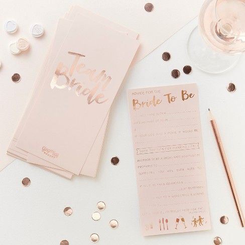 Ginger Ray Advice For The Bride To Be Gold Target