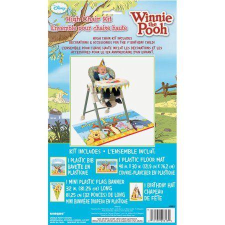 Winnie The Pooh 1st Birthday High Chair Decorating Kit Walmart Com Winnie The Pooh Birthday High Chair Decorations Disney Winnie The Pooh