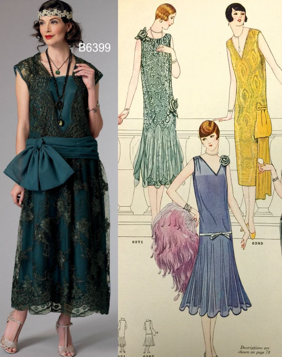 Vogue Wedding Dress Patterns 1920s dress pattern