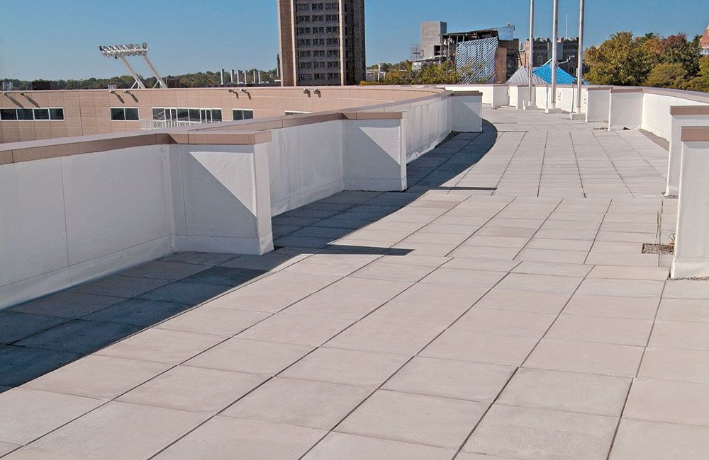 Pedestal Pavers Flat Roof Tiles Roof Installation Pavers