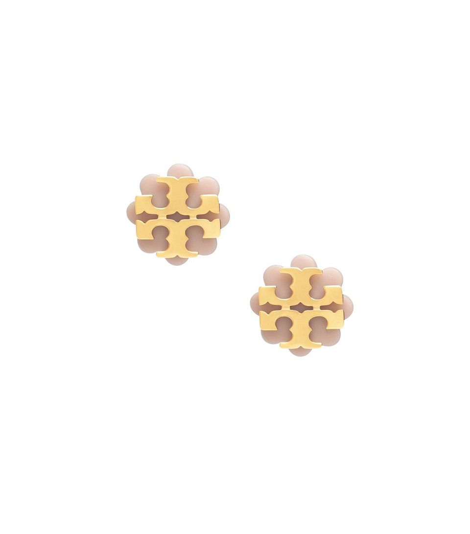 d469c6368 Tory Burch logo flower resin studs | Want | Jewelry, Stud earrings ...