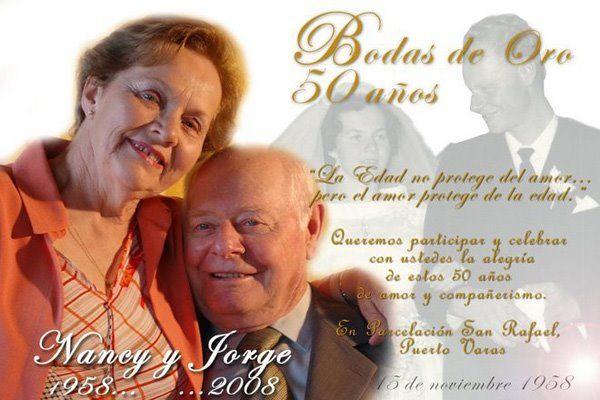 Pin De Virginia Salaceda En Boda Bodas De Oro Invitaciones