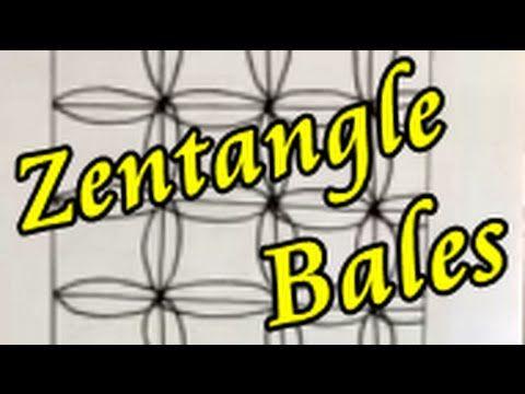 zentangle basic patterns #8 Bales practice ゼンタングル基本パターン練習(俵) - YouTube