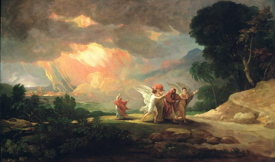 """Lot Fleeing from Sodom"" by Benjamin West, 1810 [Detroit ..."
