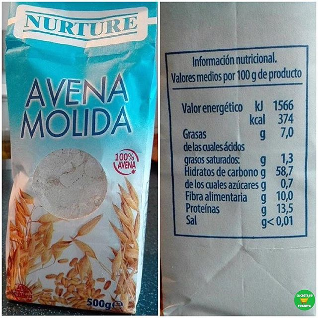 Avena Molida Novedad En Mercadona Supermercado Mercadona P V P 1 Euro Adela 0 Lacestadefranitamercad Avena Alimentario Nutricional