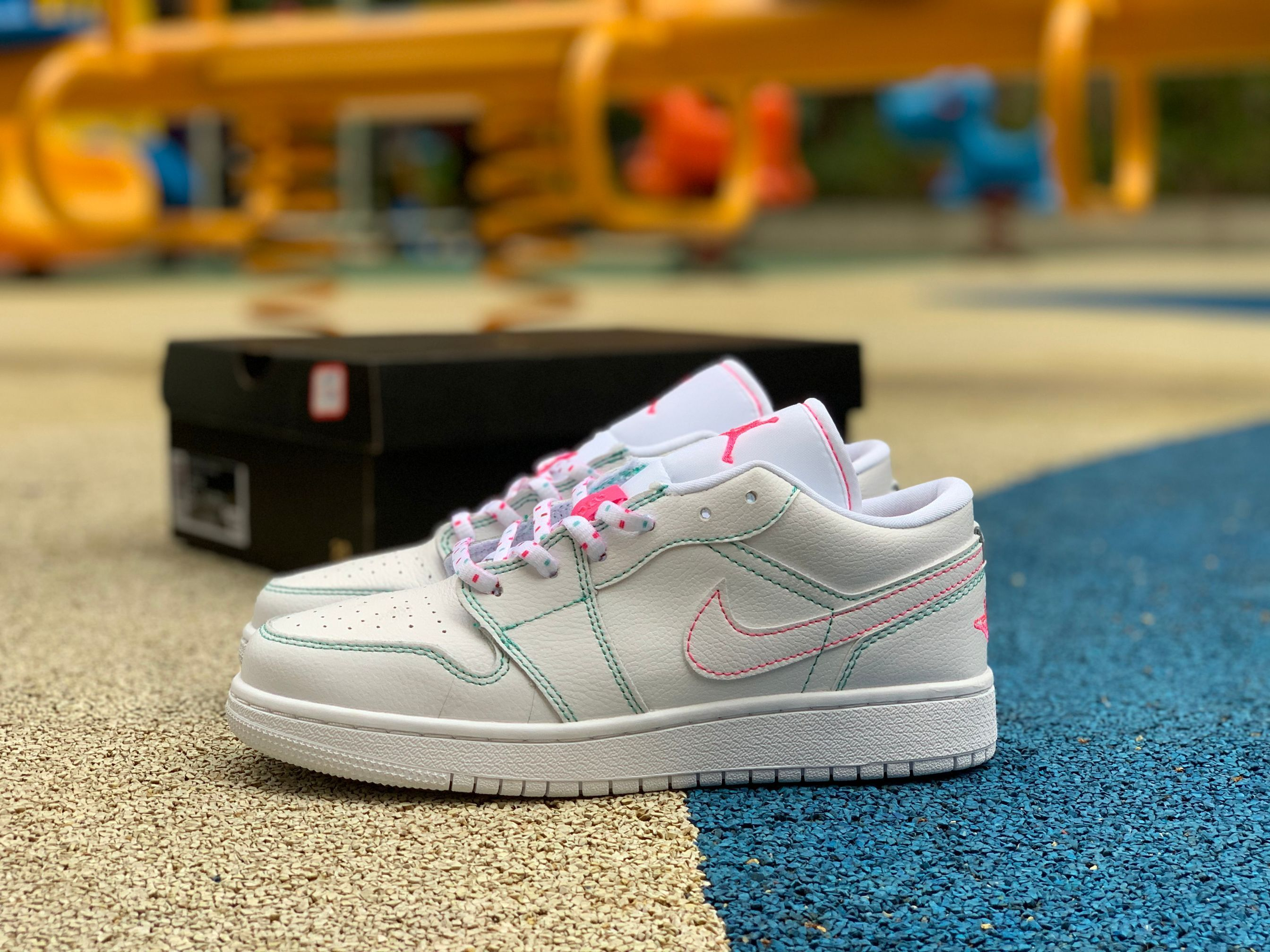 2020 Air Jordan 1 Low Gs Cotton Candy Pink Blue 554723 101 For Sale Air Jordans Jordan 1 Low Jordans