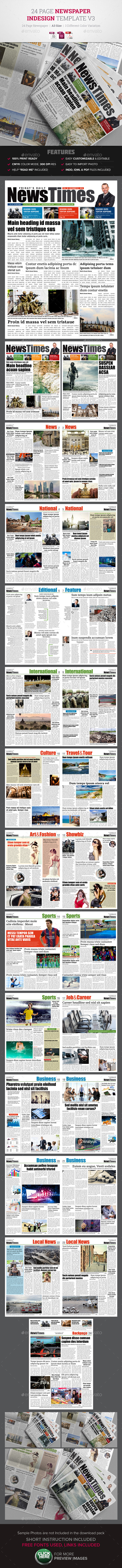 24 Page Newspaper Design v3 | Pinterest | Diseño editorial ...