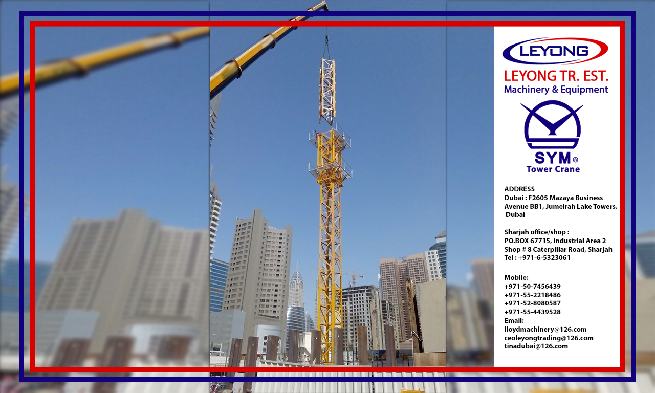 Pin by Leyong Machinery on tower crane | Tower, Spare parts, Uae