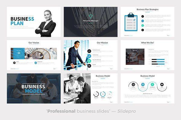Business Plan Powerpoint Template Presentations Portfolios Web