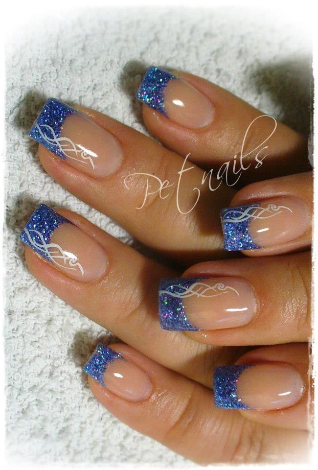 pet nails nails nails and nails pinterest n gel french n gel und n gel glitzer. Black Bedroom Furniture Sets. Home Design Ideas
