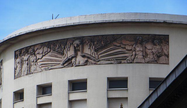 Décor art déco, Hôpital Saint-André, Bordeaux, Gironde, Aquitaine, France.