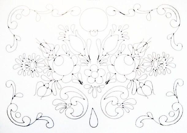 Pintura Em Tecido - Venha Aprender Pintura em Tecido: Riscos Bauernmalerei Pintura em Tecido