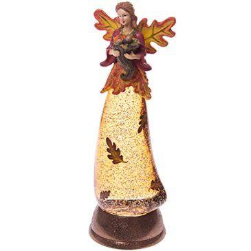 Harvest Angel Glitter Lamp
