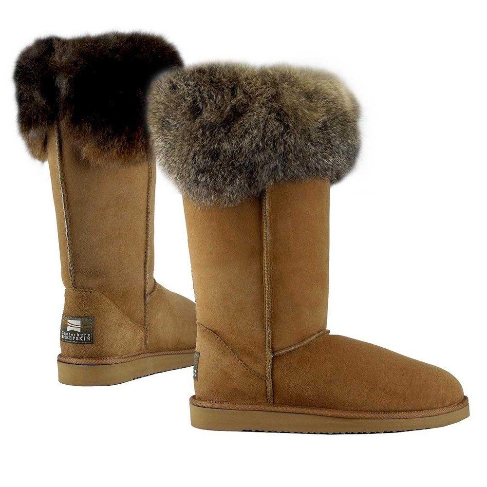 749318d5a72 Sheepskin Boots - Possum Fur Hi Top Sheepskin Boots - New Zealand Nature