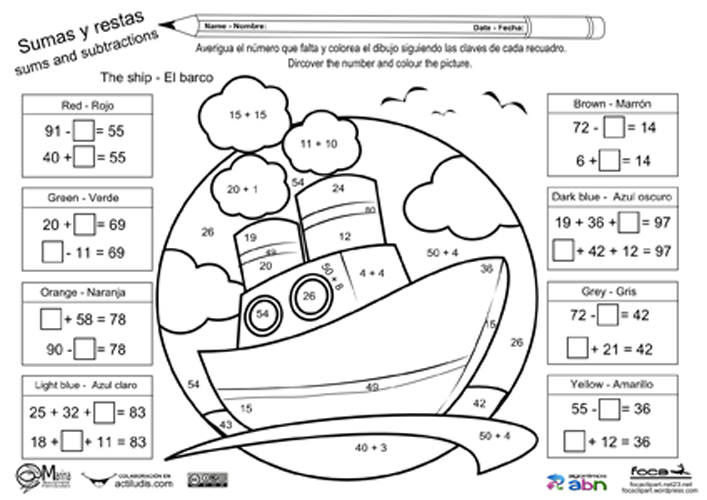 Sumas y restas ABN-03 | Matematica | Pinterest