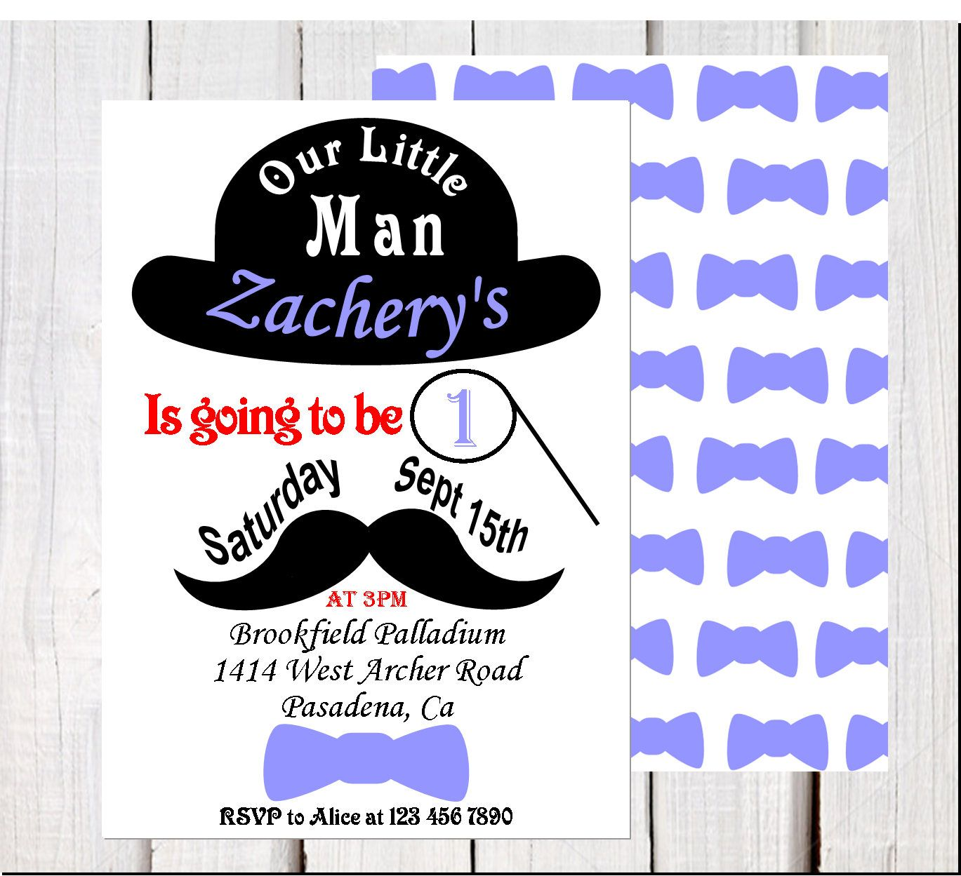 Boy First Birthday Invitation, 1st Birthday Invitation, our little ...