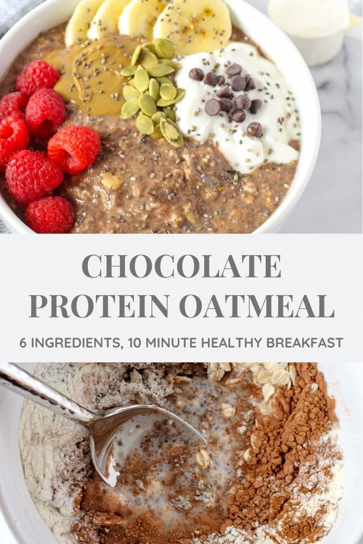Make your oatmeal more filling by bulking up your bowl, adding protein, and making it grow. I'll show you how using New Chapter's NEW Collagen for added protein! Plus, get the recipe for my Chocolate Protein Oatmeal [Sponsored by New Chapter #ad] #glutenfreebreakfast #highprotein #oatmealbowl #oatmeal #chocolateoatmeal | chelseyamernutrition.com