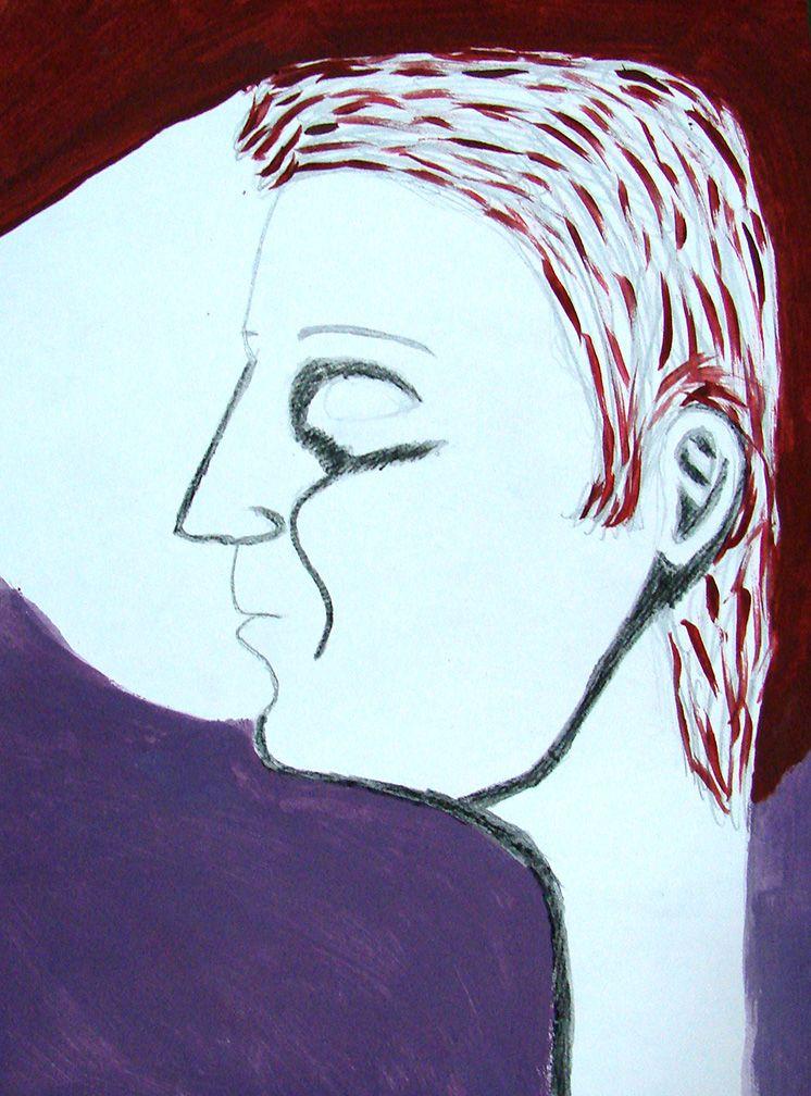 Módulo III. RETRATOS. Entrar en contacto íntimo con lo que se ve. Dibujo de Lia Oyarzabal.