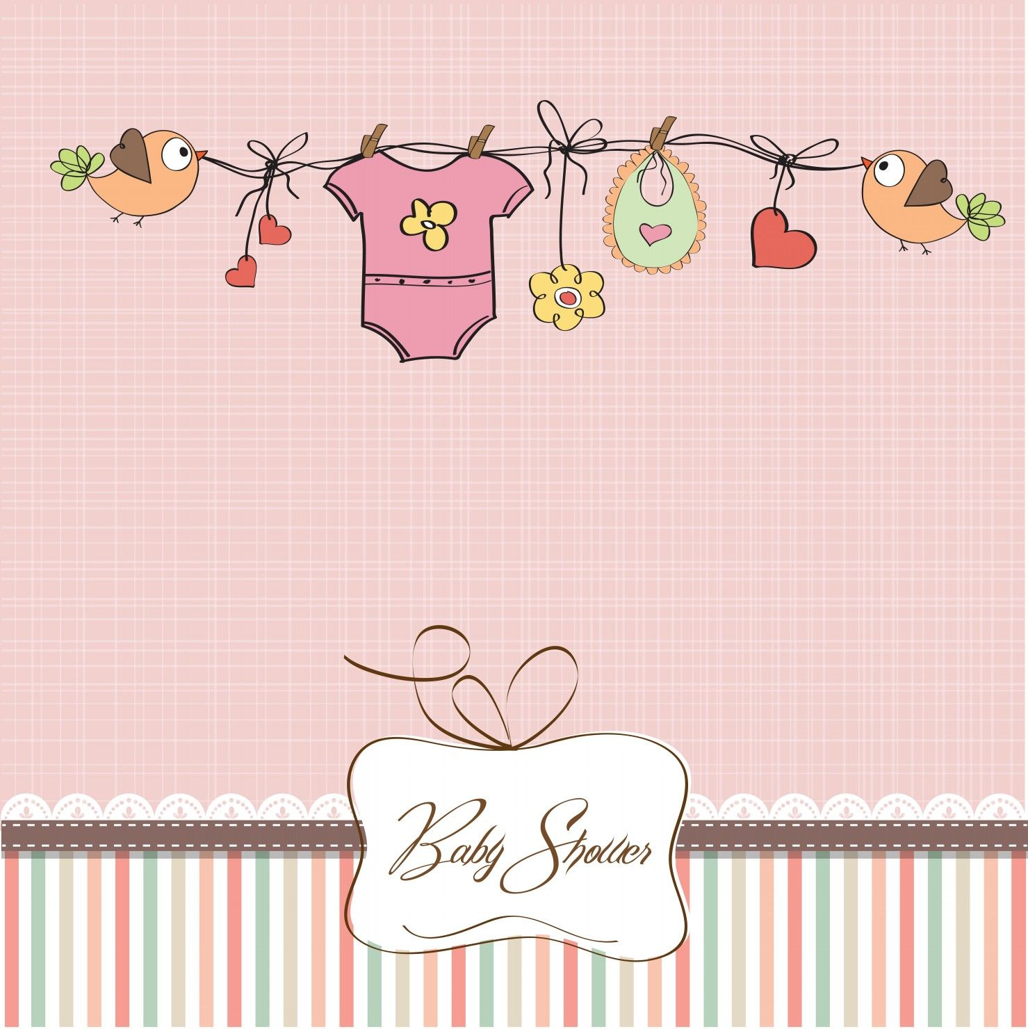 Baby girl shower card Cuty pie Pinterest