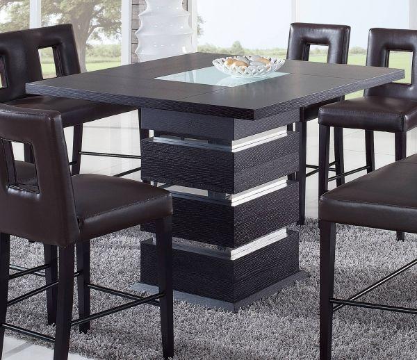 Global Furniture Dg072 Wenge Bar Table Comedor Para Espacios Pequenos Mesas De Comedor Modernas Decoracion De Comedores Pequenos