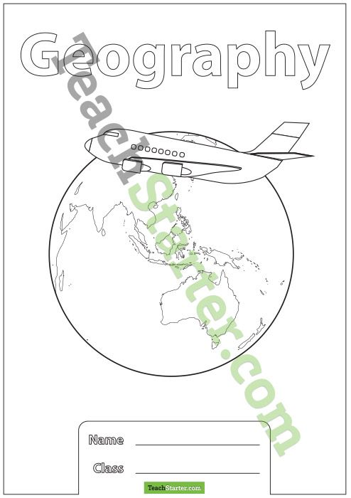 Geography School Book Cover Ideas ~ Geography book cover teaching resources teach starter