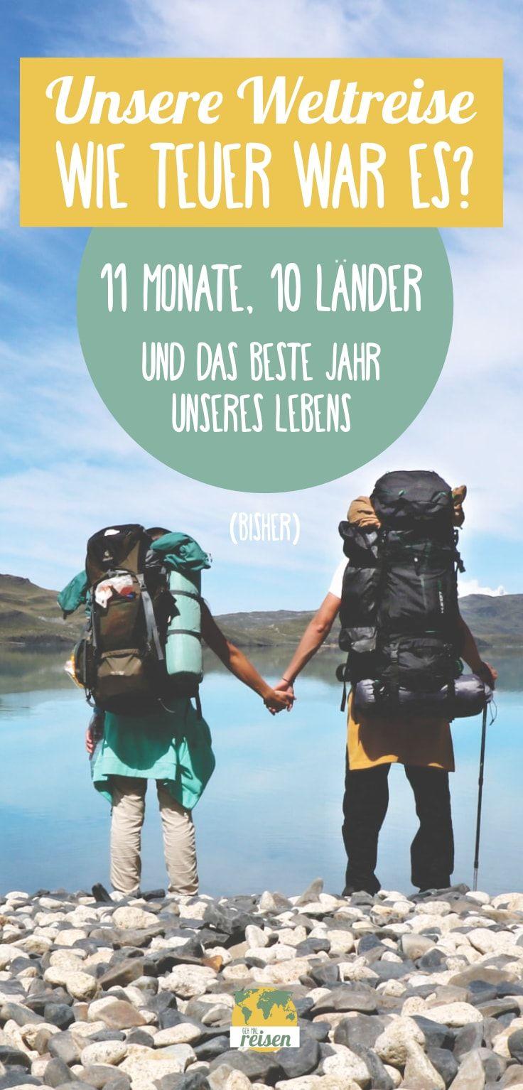 Was kostet 1 Jahr Weltreise • Unsere Kosten im Detail mit Planungshilfe! #wanderlust