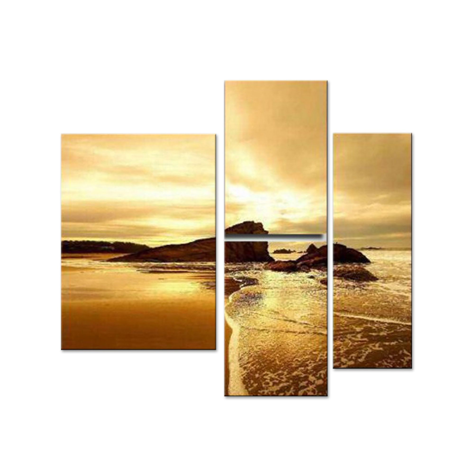 Modern Sea of Calming Waters Landscape Canvas Wall Art Oil Painting ...