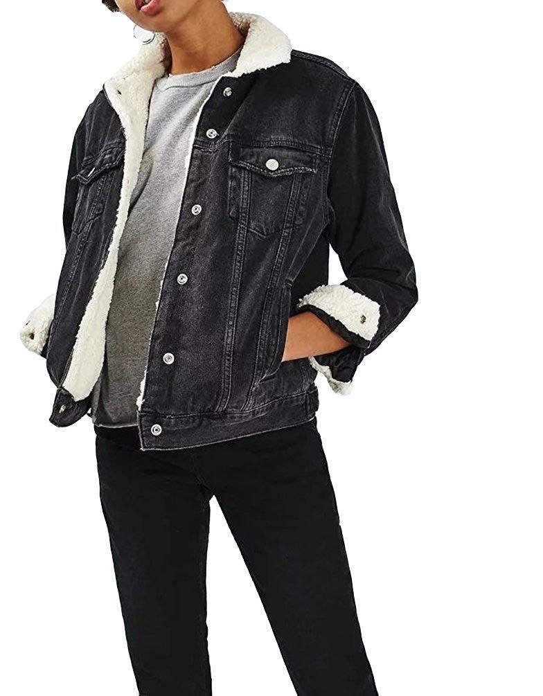 Runyue Damen /Ärmellose Zerrissene Gewaschen Jeans Weste Fit Beil/äufige Cowboy Denim Jacke Weste Jeansweste