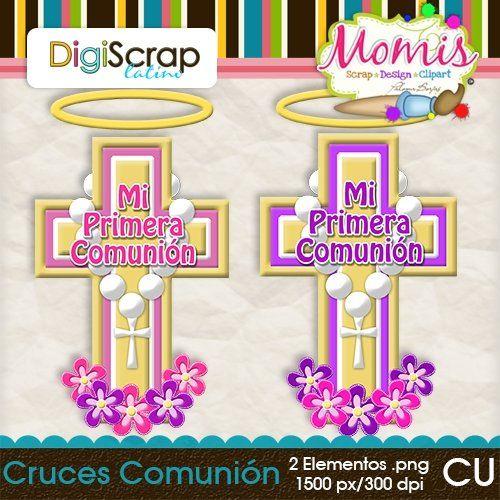 Cruces Comunión (rosa-morado) - $2.00 : DigiScrap Latino