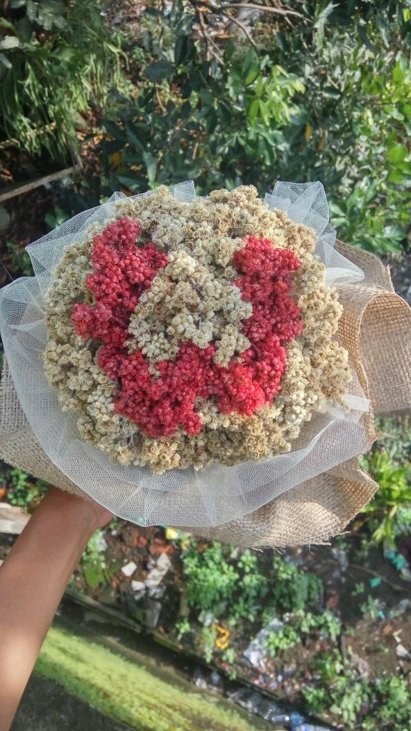 Bunga Edelweis / Bunga Abadi tipe Buket Bunga Edelweis Kustom