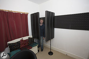 Or Used To Form A Makeshift Vocal Booth When Recording Home Studio Music Home Studio Setup Recording Booth