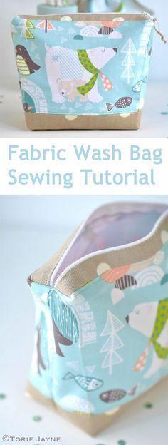 Fabric Wash Bag Sewing DIY Tutorial http://www.free-tutorial.net ...