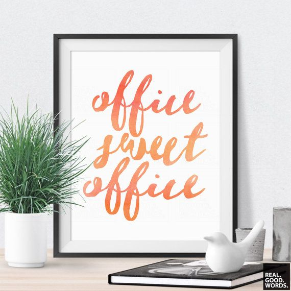 Cubicle Wall Decor printable quote office sweet office cubicle decor orange coral