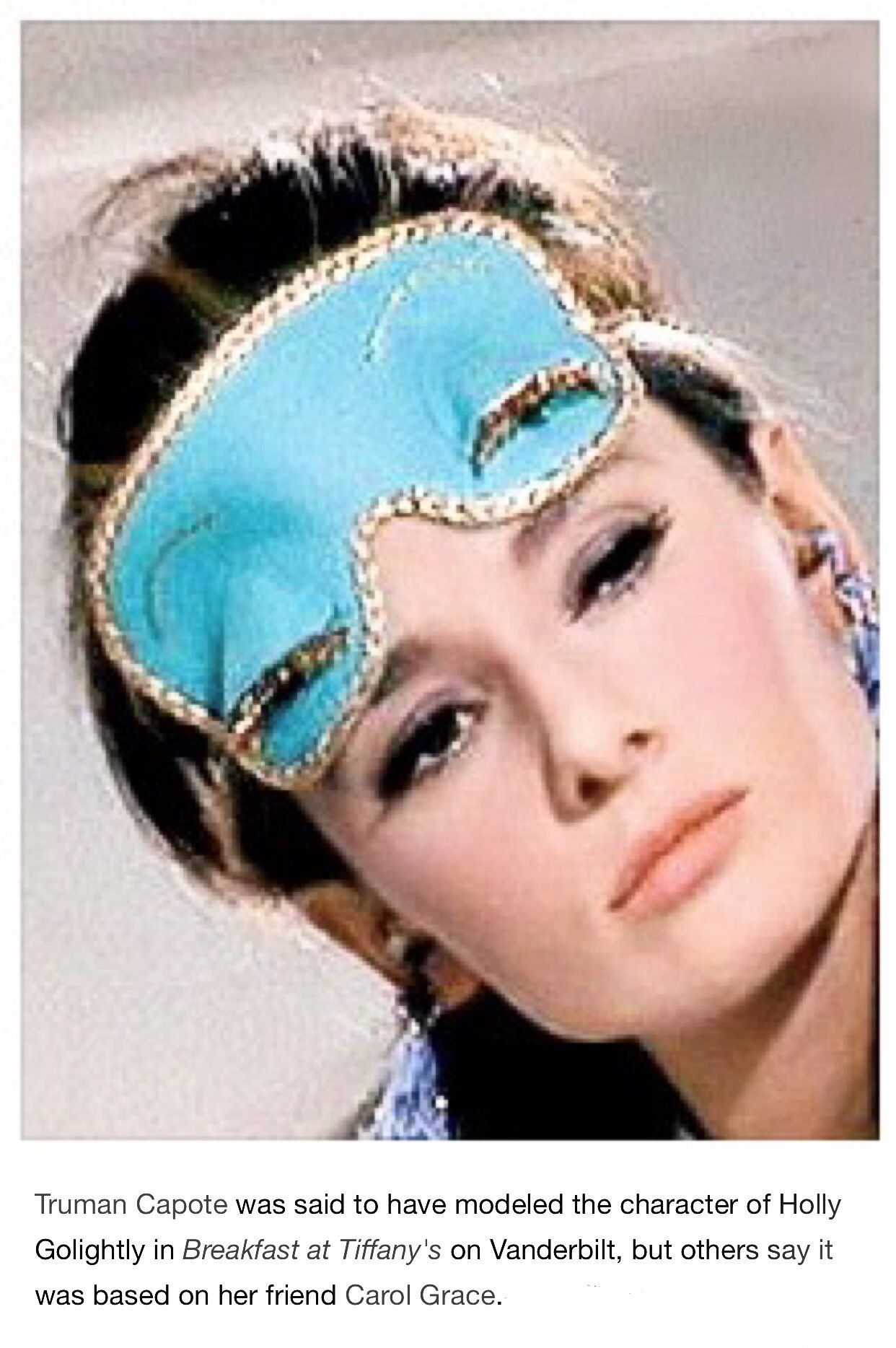 1e648045b Truman Capote was said to have modeled the character of Holly Golightly in  Breakfast at Tiffany's on [Gloria] Vanderbilt, but others say it was based  on her ...
