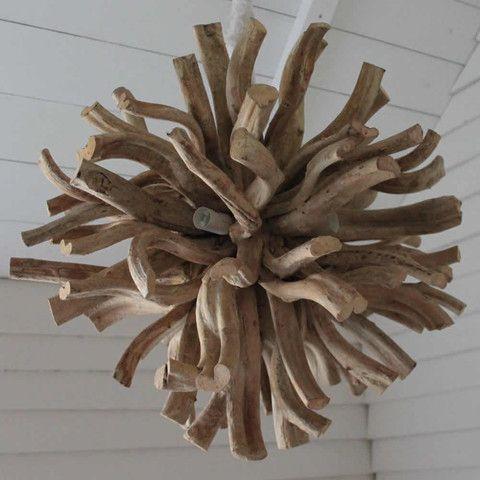 Lights Impessive Driftwood Sputnik Chandelier