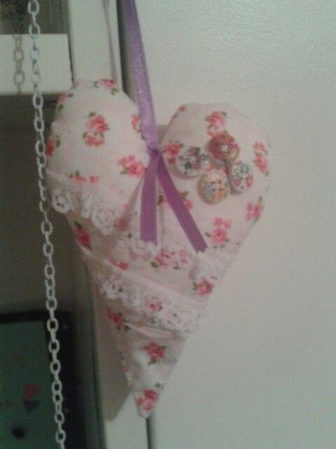 Floral lace heart