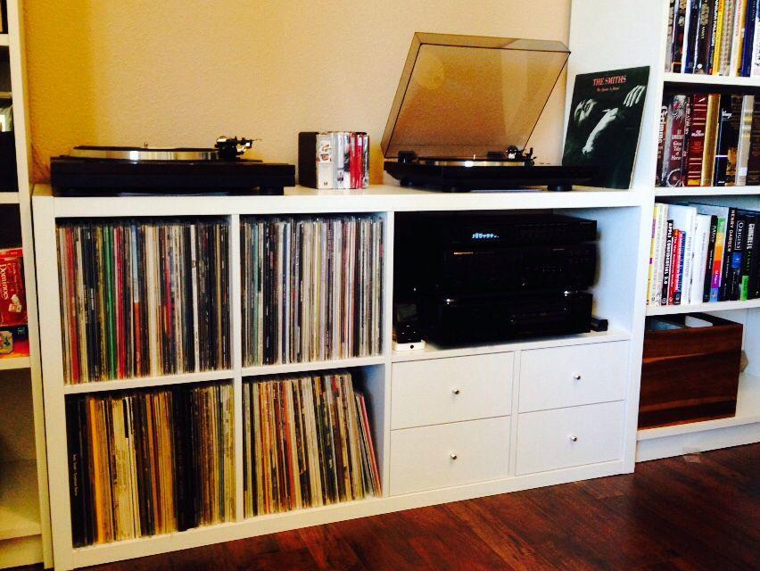 Ikea Kallax Expedit Turntable Amp Audio Storage Hacks