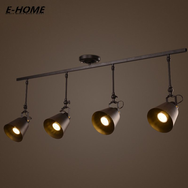 Adjustment Track Lighting Small Angle Retro Wind Restaurant Bar Clothing Led Spotlights E27 110v 240v 220v