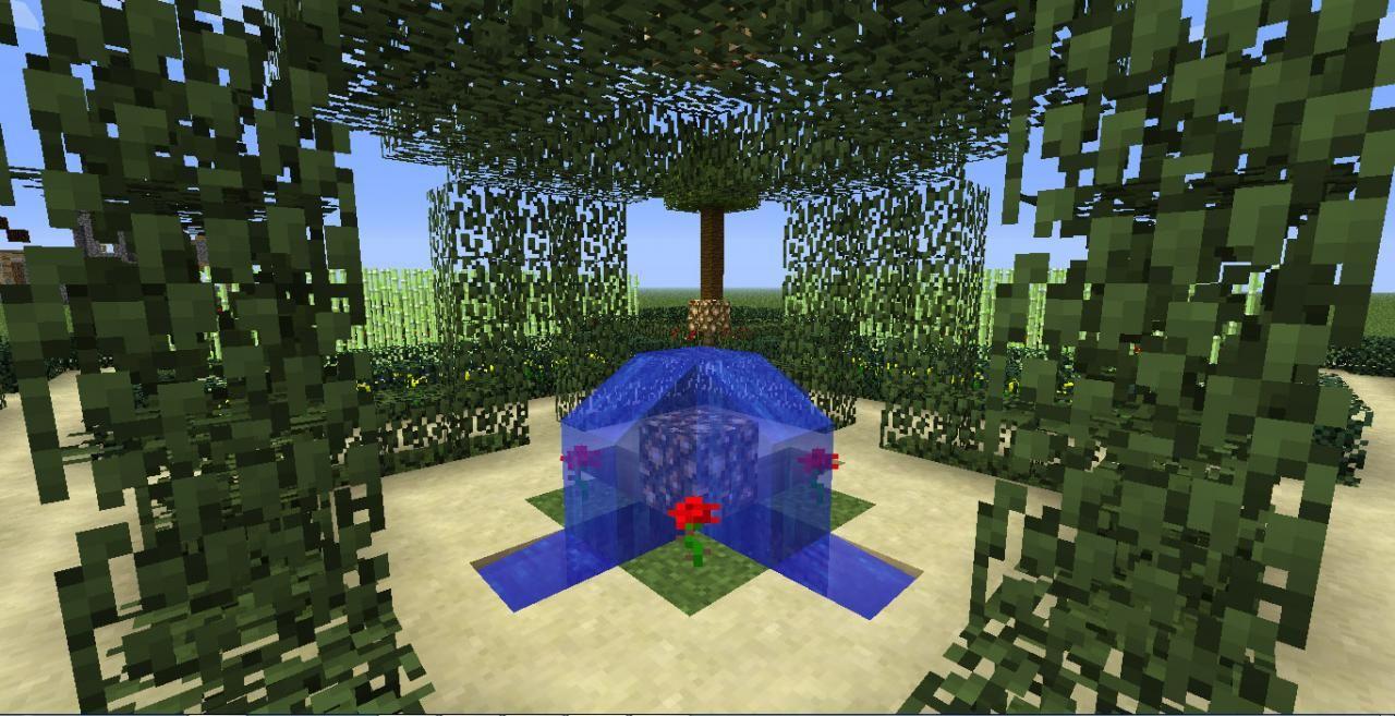 jardin minecraft Jardin Minecraft à la française