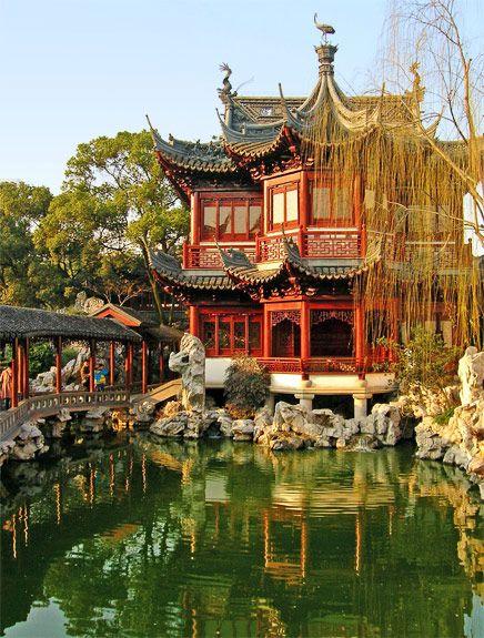 yu gardens in shanghai, china | china | chinese cultuur, reizen, azië