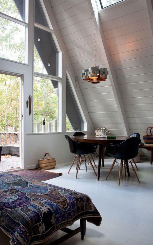13 Well Designed A Frame Interiors A Frame House House Interior