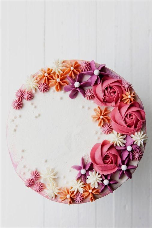 How to make a buttercream flower cake #BirthdayCake