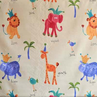 Hip Hippo Ray Antique Animal Fabric In Kids For Curtains Bedding