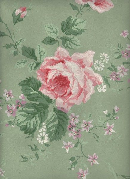 Vintage Floral Valance Shabby Cabbage Roses Victorian Cottage Chic Pink Green Yellow