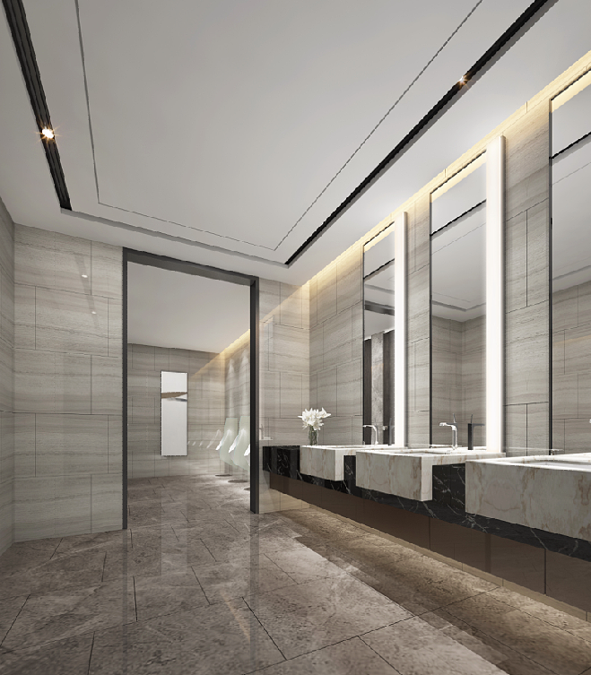 Forr com rasgos iluminados projetos corporativos for Modern washroom designs